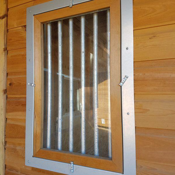 Window With Chew Strips